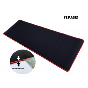 """Vipamz Extended Xxxl Gaming Mouse Pad - 36""""x12""""x0.12"""" Dimension - Portable with Extended XXL Size - Non-slip Rubber Base - Special Treated Textured Weave with Precision Control (red)"""