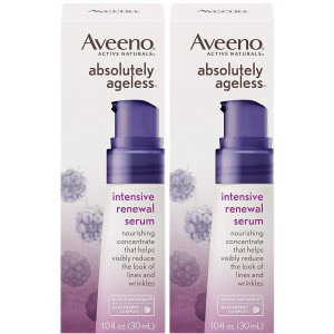 Aveeno Absolutely Ageless Intensive Renewal Serum 1 Ounce (29ml) (2 Pack)