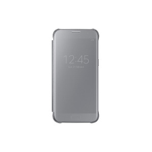 Samsung Galaxy S7 Case S-View Clear Flip Cover - Silver (Not for Sand EDGE)