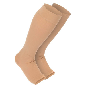 Maternity Compression Stockings: Premium Open Toe Pregnancy Socks With Guaranteed Joint and Muscle Pain Relief. Best Leg, Ankle, And Feet Support Treatment For Swelling, Varicose Veins, and Edema (1-Pair)
