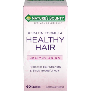 Nature's Bounty Optimal Solutions Healthy Hair Keratin Formula, 60 Capsules