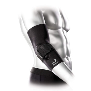 BioSkin Tennis Elbow Brace - Elbow Compression Sleeve with Support Strap and Gel Pad - For Tennis Elbow and Golfer's Elbow and Tendinitis
