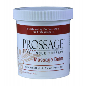 Prossage Massage Balm for Deep Tissue Massage and Therapuetic Massage, Topical Pain Reliever for Soft Tissue Mobilization, IASTM, Trigger Point Therapy, Graston, Muscle Pain Relief, 14 Ounce Jar