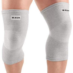 Mava Sports Knee Support Sleeves (Pair) for Joint Pain and Arthritis Relief, Improved Circulation Compression  Effective Support for Running, Jogging,Workout, Walking and Recovery