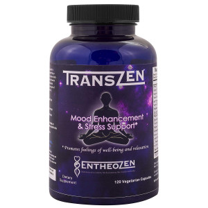TransZen - Natural Stress Relief and Mood Support, Anxiety Relief, Anti Depression, 5htp and Herb Supplement with Ashwagandha and L-Theanine -Feel Happy and Calm Naturally - 120 Capsules