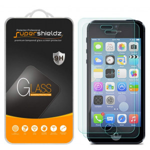 Supershieldz [2-Pack] for iPhone 4/iPhone 4S Tempered Glass Screen Protector, Anti-Scratch, Anti-Fingerprint, Bubble Free, Lifetime Replacement Warranty