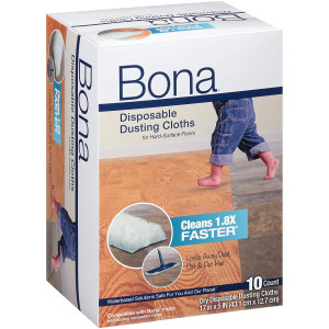 Bona Dry Dusting Disposable Clothe 10 Count, 1, White