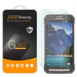 """[2-Pack] Supershieldz for Samsung """"Galaxy S5 Active"""" (Not Fit for Galaxy S5) Tempered Glass Screen Protector, Anti-Scratch, Anti-Fingerprint, Bubble Free, Lifetime Replacement Warranty"""