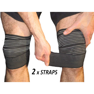 Elastic Knee Compression Bandage Wraps  Support for Legs, Thighs, Hamstrings Ankle and Elbow Joints Reduce Swelling, Lymphatic Relief Help Recover from Knee Replacement Surgery (Large)