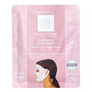 LACE YOUR FACE Compression Facial Mask - Hydrating Rose Water - Single