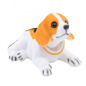 Bobble Head Dogs Bobbing Heads Car Dash Ornaments Puppy for Car Vehicle decoration (Biggar)