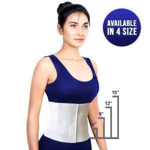 """Most Comfortable Abdominal Binder, Additional Plush Foam Panel Added for Pleasant Wear, Post Pregnancy, Post-Operative and Abdominal Injuries Support, Small (30"""" - 45""""), 9"""" High"""