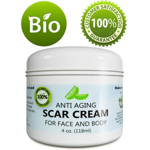 Anti Aging Scar Cream for Face and Body - Scar Removal Cream for Old Scars New Scars and Stretchmarks  Diminish Dark Spots With Anti-aging Antioxidants Vitamin E Jojoba and Cocoa Butter  by Honeydew
