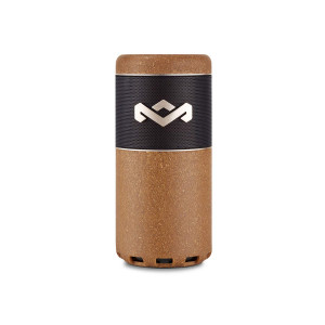 House of Marley, Chant Sport Bluetooth Speaker, Designed to Float, Waterproof/Dust Resistant IP67, Integrated Mic, Fits In Most Cup Holders and Bottle Cages, Carabiner Clip, Outdoor, EM-JA009-NL Natural
