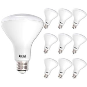 Sunco Lighting 10 Pack BR30 LED Light Bulb 11 Watt (65 Equivalent) Flood Dimmable 3000K Kelvin Warm White 850 Lumens Indoor/Outdoor 25000 Hrs For Use In Home, Office And More UL and ENERGY STAR LISTED