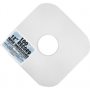 """(100) Archival Quality Acid-Free Heavyweight Paper Inner Sleeves for 12"""" Vinyl Record Albums #12IW"""