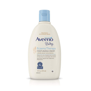 Aveeno Baby Eczema Therapy Moisturizing Cream with Natural Colloidal Oatmeal for Eczema Relief, 12 fl. oz