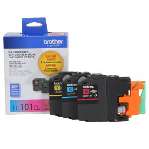 Brother LC101-3PKS Combo Pack Ink Standard Yield (3x 300 Yield)(C/M/Y)