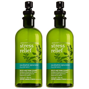 Bath and Body Works Aromatherapy Stress Relief Eucalyptus Spearmint Pillow Mist, 5.3 Fl Oz, 2-Pack (Packaging May Vary)