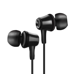 Soutege S8 in-Ear Wired Earphone Earbuds 3.5mm Headphones with in-Line Microphone - Black