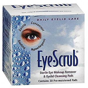 Eye Scrub Sterile Eye Makeup Remover and Eyelid Cleansing Pads 30 ea (Pack of 2)