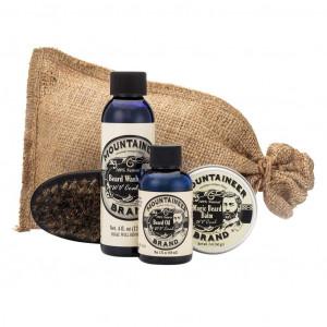 Beard Care Kit by Mountaineer Brand: All-Natural, Complete Beard Care in one Kit (WV Coal) Includes: Beard Oil, Beard Balm, Beard Wash, and Beard Brush