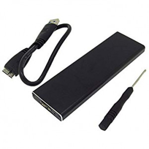 SSD to USB3.0 Hard Disk Enclosure External Case 6+12 Pin for 2010 Apple MacBook Air A1370 A1369