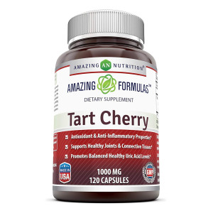 Amazing Formulas Tart Cherry Extract - 1000 Mg, 120 Capsules - Antioxidant Support - Promotes Joint Health and a Proper Uric Acid Level Balance