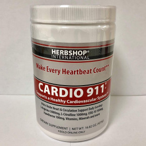 Cardio 911 Heart Health Nitric Oxide (16.82 Ounce Powder with Scoop) L-Arginine Supplement 5000mg + L-Citrulline 1000mg,16.82 Ounces