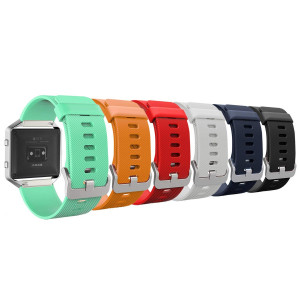 "MoKo Fitbit Blaze Band, [6 PACK] Colorful Soft Silicone Adjustable Replacement Band Straps for Fitbit Blaze Smart Fitness Watch, Wrist Length 5.90""-8.26"", 6PCS (Multi-Colors)"