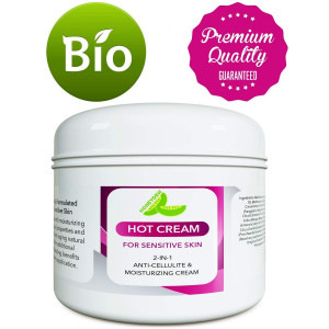 Sensitive Skin Body Moisturizer and Hot Cream Fat Burner for Women and Men  All Natural Body Cream with Antioxidant Herbs Botanicals and Fruit Extracts Apple Orange and Mango  Smooth and Brighten Skin