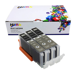 HIINK Compatible ink Cartridge Replacement For Canon CLI-251 CLI-251XL Gray Color High Yield ink use with Canon Pixma iP8720 MG6320 MG7120 MG7520 IP7220(Gray, 3-Pack)