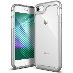 Caseology [Skyfall Series] iPhone 8 / iPhone 7 Case - [Clear Back/Premium Finish] - Silver