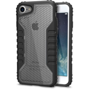 Silk iPhone 7/8 Tough Case - SILK Armor Protective Rugged Grip Cover - Guardzilla - Includes 2 Tempered Glass Screen Protectors - Clear