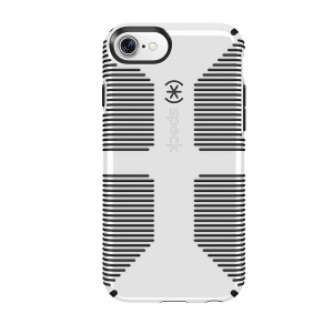 Speck Products 79239-1909 CandyShell Grip iPhone 8 Case, Also fits iPhone 7/6S/6 - White/Black