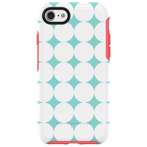 OtterBox SYMMETRY SERIES Case for iPhone 8 and iPhone 7 (NOT Plus) - HALFTONE (AQUA MINT/CANDY PINK/HALFTONE GRAPHIC)