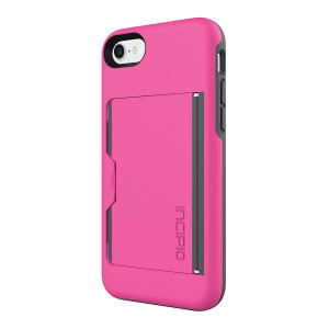 Incipio IPH-1477-PKC Stowaway for iPhone 8 and iPhone 7 - Pink/Charcoal