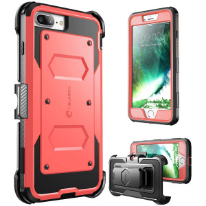 iPhone 7 Plus Case, iPhone 8 Plus Case [Armorbox] i-Blason [Built in Screen Protector] [Full Body] [Heavy Duty Protection ] Shock Reduction/Bumper Case Apple iPhone 7 Plus/iPhone 8 Plus (Pink)