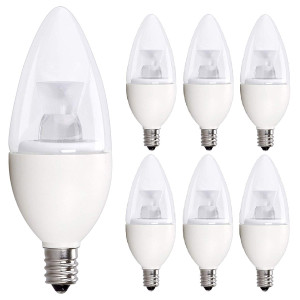40 Watt Candelabra Bulbs, 5W Dimmable Candelabra LED Bulbs C37 E12 (40W Replacement) UL Listed, 350 lumens, 120 Beam Angle, 3000K Soft White LED Candle Bulbs, Pack of 6