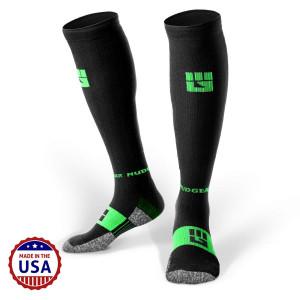 MudGear Premium Compression Socks - Mens and Womens Running Hiking Trail (1 Pair)