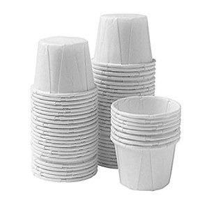250 Vakly Paper Medicine Cups, 3/4 oz, (Disposable Souffle Cups)