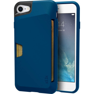 "Silk iPhone 7/8 Wallet Case - VAULT Protective Credit Card Grip Cover - ""Wallet Slayer Vol.1"" - Blue Jade"