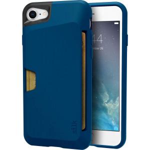 "Silk iPhone 7/8 Wallet Case - VAULT Protective Credit Card Grip Cover - ""Wallet Slayer Vol.1"" - Blue Jade"