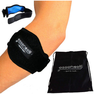 Tennis Golfers Elbow Brace for Tendonitis Treatment, Elbow Strap with Compression Pad, Tennis Elbow Pain Relief Support for man and woman + Drawstring Carrying Bag