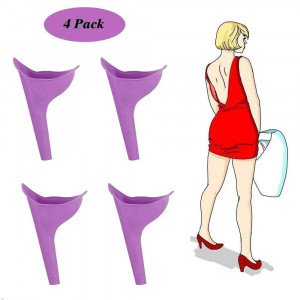 small homeware Female Urination Device, Women Lady Portable Urinal Camping Travel Urination Device Urine Funnel Toilet, 4 Piece