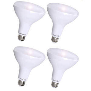 4 Pack Bioluz LED BR30 LED Dimmable Bulb, 65W Replacement (Uses 8W) 650 lumen, 3000K (Soft White), Indoor/Outdoor Flood Light, 110 Beam Angle, E26 Medium Base, UL-Listed (Pack of 4)