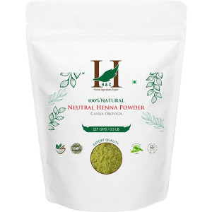 HandC 100% Pure Natural Organically Grown Neutral Henna Powder / Colorless Henna / Senna Powder / Cassia Obovata (227g / (1/2 lb) / 8 ounces) For conditioning your hair without coloring.