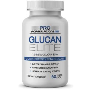Glucan Elite  85% Beta 1,3D Glucan 500mg - 60 vcaps | 85% Minimum Active 1,3 Linkage Ultra-Potency Beta Glucan  Highest Bioavailability with BGF-Immune