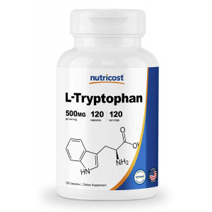 Nutricost L-Tryptophan 500mg, 120 Capsules