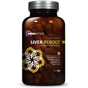 OmniBiotics Liver Reboot - Liver Detox, Liver Cleanse Support   Milk Thistle 4:1 Extract, Globe Artichoke, NAC, Bupleurum Root